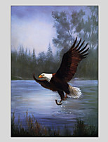cheap -Hand-Painted Animal Vertical Panoramic,Animals One Panel Canvas Oil Painting For Home Decoration