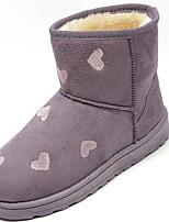 preiswerte -Damen Schuhe PU Winter Herbst Schneestiefel Stiefel Flacher Absatz Runde Zehe Mittelhohe Stiefel Für Normal Schwarz Grau Purpur