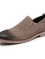 Men's Shoes Leather Suede All Season Comfort Loafers & Slip-Ons For Casual Almond Red Black