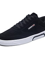 Men's Shoes PU Pigskin Spring Fall Comfort Sneakers For Casual Red Gray Black