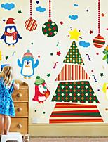 Navidad Pegatinas de pared Tatuajes Calcomanías Decorativas de Pared,Material Resistente Al Agua Material Decoración hogareña Vinilos