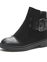 cheap -Women's Shoes Cashmere Winter Combat Boots Boots Round Toe Mid-Calf Boots For Casual Black