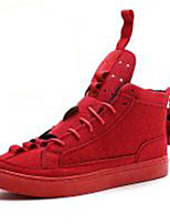 cheap -Men's Shoes Fabric Fall Winter Fur Lining Sneakers For Casual Outdoor Red Black