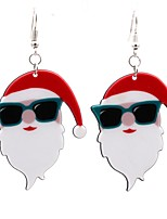 Women's Drop Earrings Acrylic Simple Lovely Acrylic Alloy Face Jewelry For Christmas