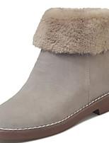 abordables -Femme Chaussures Gomme Hiver Bottes de neige Bottes Bout rond Pour Noir Gris