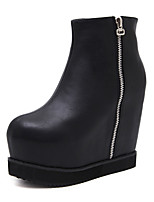 cheap -Women's Shoes Real Leather Fall Winter Comfort Novelty Fashion Boots Bootie Boots For Wedding Casual Black