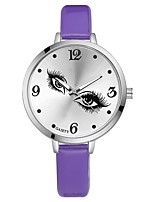 Women's Wrist watch Chinese Quartz Large Dial PU Band Casual Colorful Elegant Black White Blue Red Brown Pink Purple Rose Sky Blue