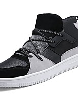 cheap -Men's Shoes Synthetic Microfiber PU Spring Fall Comfort Sneakers For Casual White Black