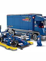 Недорогие -Blue Lightening F1 Конструкторы Игрушки Грузовик Транспортер грузовик Гоночная машинка Транспорт 644 Куски