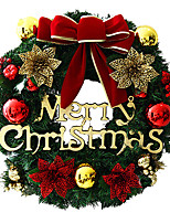 Adornos navideños 1pc guirnalda para decoraciones navideñas 30 * 30