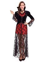 abordables -Vampiros Disfrace de Cosplay Mujer Halloween Carnaval Oktoberfest Festival / Celebración Disfraces de Halloween Rojo Árboles y Hojas