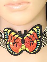 Недорогие -Жен. В форме банта европейский Мода Ожерелья-бархатки Кожа Сплав Ожерелья-бархатки , Для вечеринок