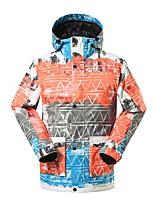 GSOU SNOW Skianzüge Herrn Skifahren Ski Warm Wasserdicht Windundurchlässig tragbar Atmungsaktivität umweltfreundlich Polyester Seide