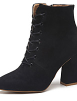 preiswerte -Damen Schuhe Gummi Winter Springerstiefel Stiefel Spitze Zehe Für Schwarz Dunkelbraun Khaki