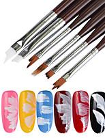 escova de unhas ferramenta de ferramentas de unhas maquiagem de maquiagem de unha