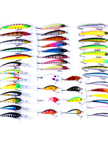 43 pcs Fishing Lures Minnow Lure Packs g/Ounce mm inch,Plastics Spinning Lure Fishing