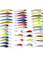 43 pcs leurres de pêche Fretin Kits de leurre g/Once mm pouce,Plastique Pêche aux spinnerbaits Pêche au leurre