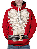 cheap -Men's Daily Plus Size Casual Hoodie Print Hooded Inelastic Polyester Long Sleeves Fall