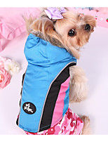 cheap -Dog Coat Dog Clothes Casual/Daily Color Block Blue Fuchsia Black Costume For Pets