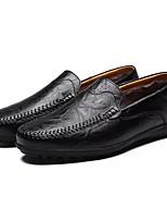Для мужчин обувь Полиуретан Осень Зима Удобная обувь Мокасины и Свитер Назначение Повседневные Черный Желтый Коричневый