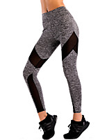 cheap -Women's Artistic Style Vintage Style Spandex Medium Stitching Print Legging,Striped Solid Gray Black