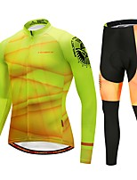 cheap -Cycling Jersey with Tights Men's Long Sleeves Bike Tights Pants / Trousers Jersey Top Clothing Suits Bike Wear Reflective Strip Fast Dry
