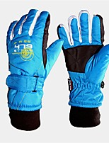 cheap -Ski Gloves Kid's Full-finger Gloves Waterproof Nylon Ski / Snowboard Winter