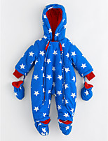 Baby Stars One-Pieces,Cotton Winter Long Sleeves Blue