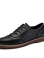 Men's Shoes Synthetic Microfiber PU Fall Winter Formal Shoes Oxfords For Casual Khaki Black