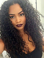 cheap -Women Human Hair Lace Wig Brazilian Remy Glueless Lace Front 130% Density With Baby Hair Kinky Curly Wig Black Short Medium Length Long