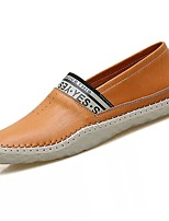 Men's Shoes Real Leather Spring Fall Moccasin Comfort Loafers & Slip-Ons For Casual Brown Yellow Black