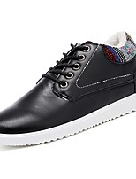 Men's Shoes PU Spring Fall Comfort Sneakers For Casual Khaki Blue Black