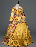 Vittoriano Rococò Donna Per adulto Vestito da Serata Elegante Stile Carnevale di Venezia Arancione Cosplay Satin elasticizzato Senza