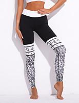 abordables -Mujer Medio Estampado Encaje de costura Estampado Legging