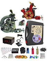 Basekey Pro Tattoo Kit  Hydra 2 Machines With Power Supply Grips Cleaning Brush  Needles