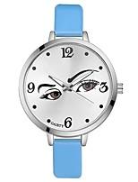 Mulheres Relógio de Pulso Chinês Quartzo Mostrador Grande PU Banda Casual Elegant Colorido Preta Branco Azul Vermelho Marrom Rosa Roxa