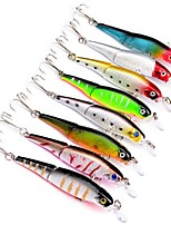 "cheap -8 pcs Fishing Lures Fishing Tools Hard Bait Minnow g/Ounce,92 mm/3-1/2"" inch,Plastic Sea Fishing Bait Casting Lure Fishing"