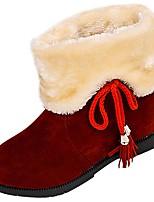 economico -Da donna Scarpe PU (Poliuretano) Inverno Autunno Suole leggere Stivaletti Punta tonda Stivaletti/tronchetti Per Casual Nero Marrone scuro