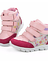 cheap -Girls' Shoes Real Leather Spring Fall Comfort Sneakers Magic Tape for Casual Pink