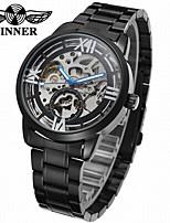 cheap -WINNER Men's Women's Dress Watch Wrist watch Mechanical Watch Automatic self-winding Hollow Engraving Stainless Steel Band Luxury Vintage