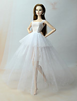cheap -Corset Dresses Dresses For Barbie Doll White Dress For Girl's Doll Toy