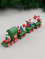 abordables -4 unids / set regalo de navidad tren de madera decoración del hogar regalo de los niños 21.5 * 5 * 3 cm
