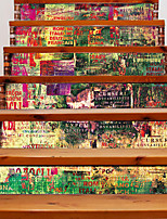 Mode Paysage Abstrait Stickers muraux Autocollants muraux 3D Autocollants muraux décoratifs,Vinyle Décoration d'intérieur Calque Mural