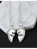 Women's Pendant Necklaces Heart Alloy Love Friendship Jewelry For Gift Daily