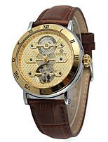Недорогие -FORSINING Муж. Повседневные часы Модные часы Наручные часы С автоподзаводом Натуральная кожа Группа На каждый день Cool
