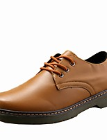 Men's Shoes PU Spring Fall Comfort Oxfords For Casual Red Brown Black