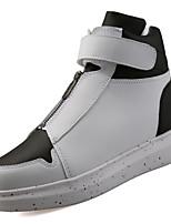 Недорогие -Для мужчин обувь Полиуретан Весна Осень Удобная обувь Кеды для Белый Черный Красный