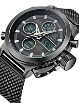 cheap -Men's Casual Watch Fashion Watch Wrist watch Japanese Quartz Calendar / date / day Casual Watch Stainless Steel Band Casual Elegant Black