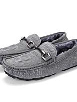 Homme Chaussures Cuir Automne Hiver Confort Nouveauté Doublure en fourrure Mocassins et Chaussons+D6148 Marche Pour Décontracté Noir Gris