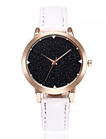 Women's Casual Watch Fashion Watch Wrist watch Chinese Quartz Large Dial Leather Band Casual Black White Red Brown Purple